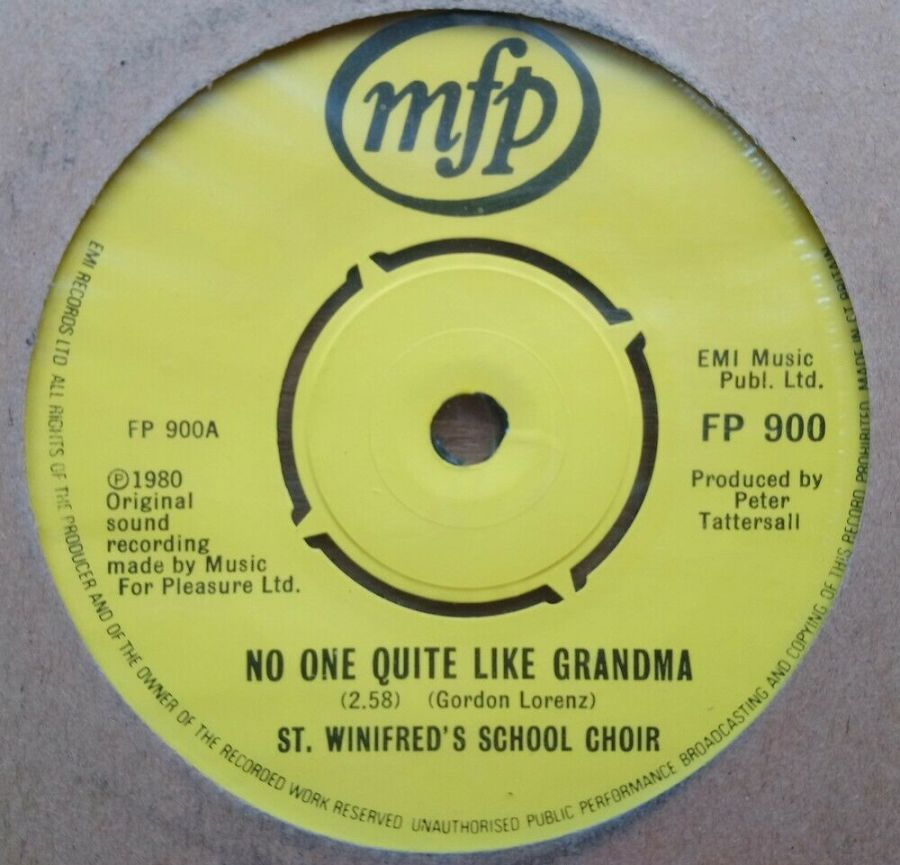St Winifred's School Choir - No One Quite Like Grandma - Vinyl Record 45 RPM