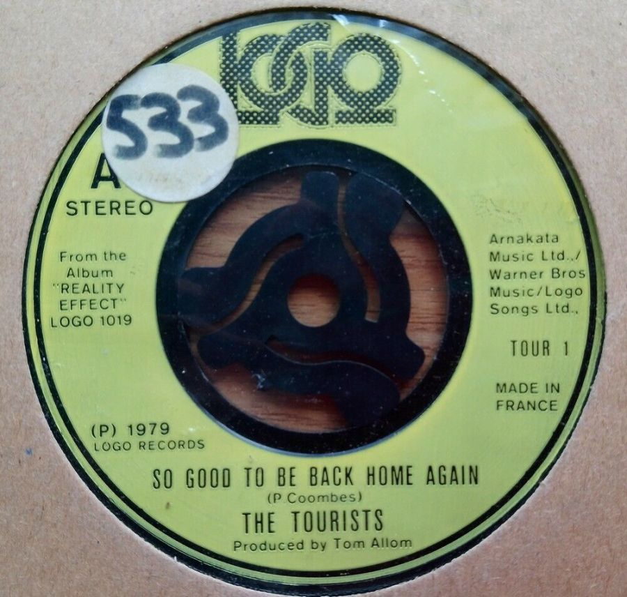 The Tourists - So Good To Be Back Home Again - Vinyl Record 45 RPM