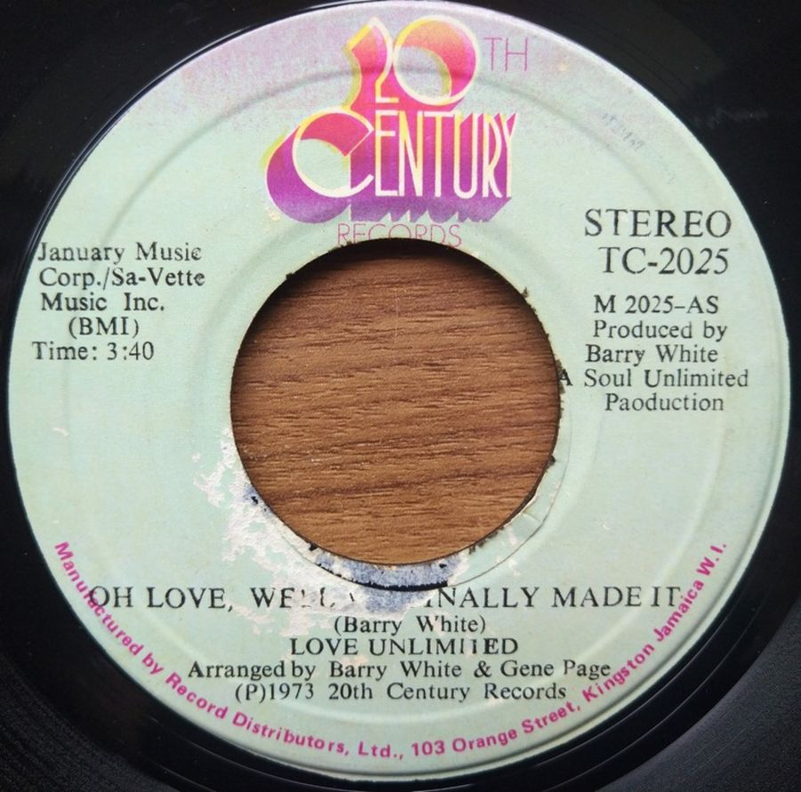 Love Unlimited - Oh Love, Well We Finally Made It - Vinyl Record - 45 RPM +