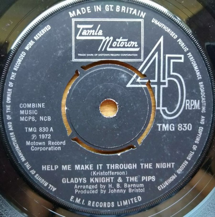 Glady Knight & The Pips - Help Me Make It Through The Night - Vinyl Record - 45 RPM ( SO )