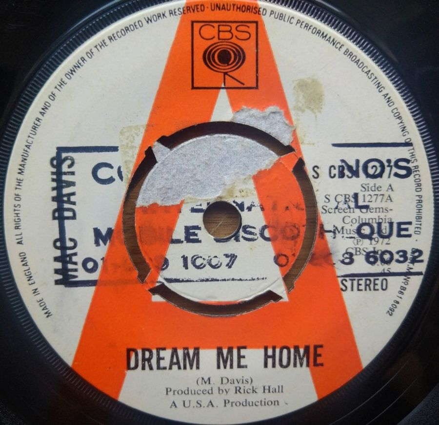 Mac Davis - Dream Me Home ( PROMO ) - Vinyl Record - 45 RPM ( SO )