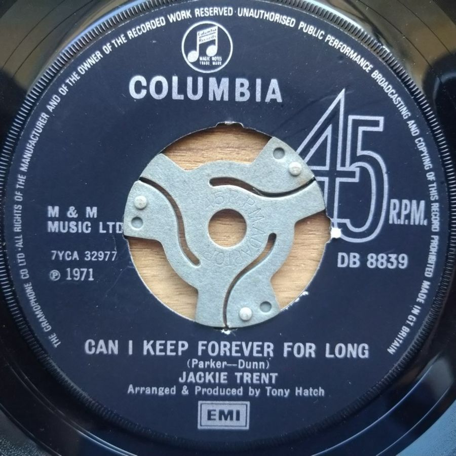 Jackie Trent - Can I Keep Forever For Long - Vinyl Record - 45 RPM ( SO )