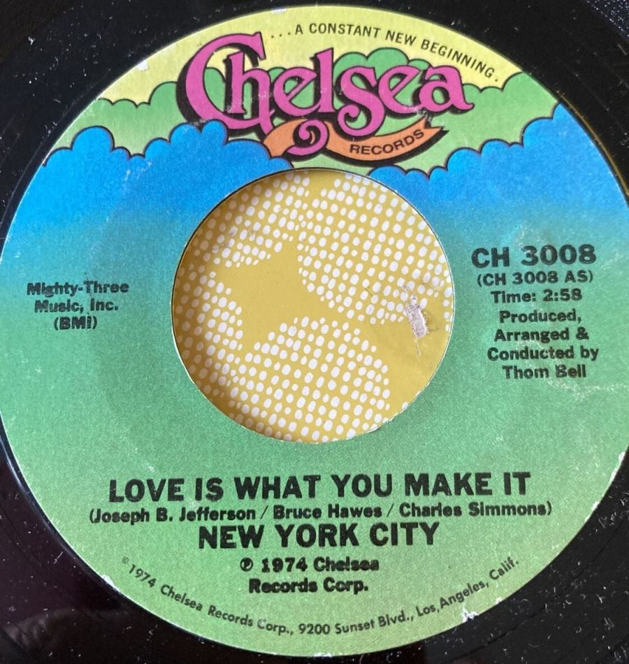 New York City - Love Is what You Make It - Vinyl Record - 45 RPM ( MS )
