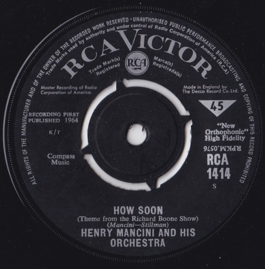 Henry Mancini And His Orchestra – How Soon / The Tiber Twist ( MS )