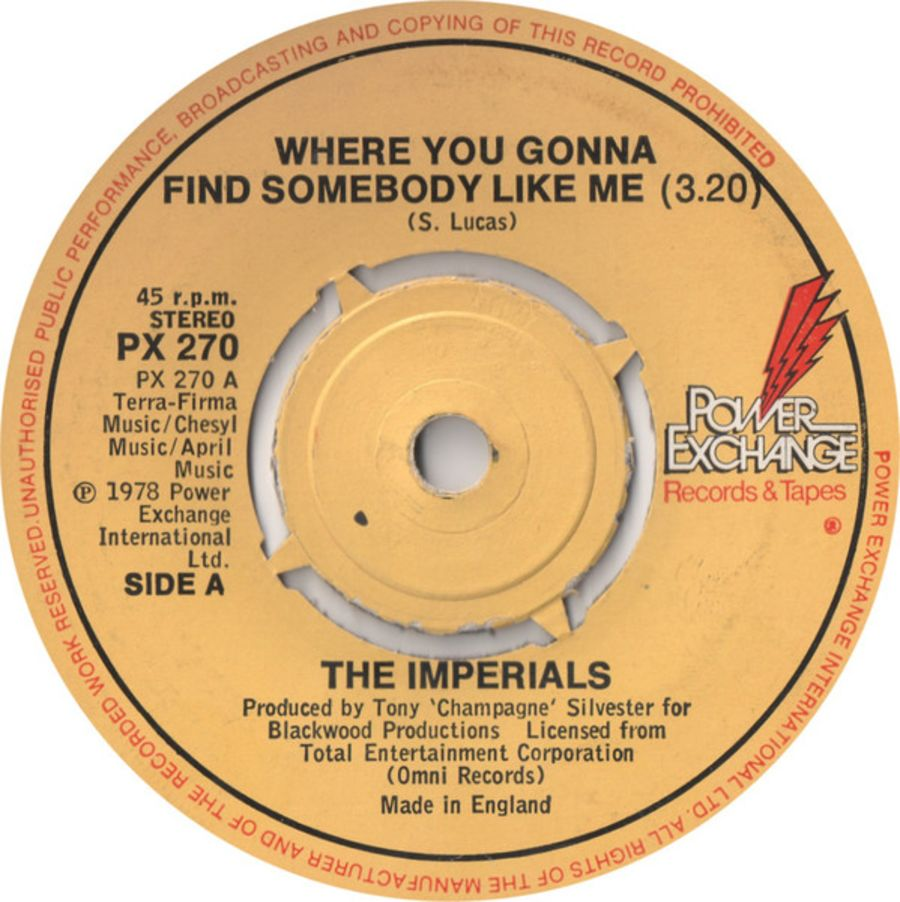 The Imperials – Where You Gonna Find Somebody Like Me - Vinyl Record 45 RPM ( MS )