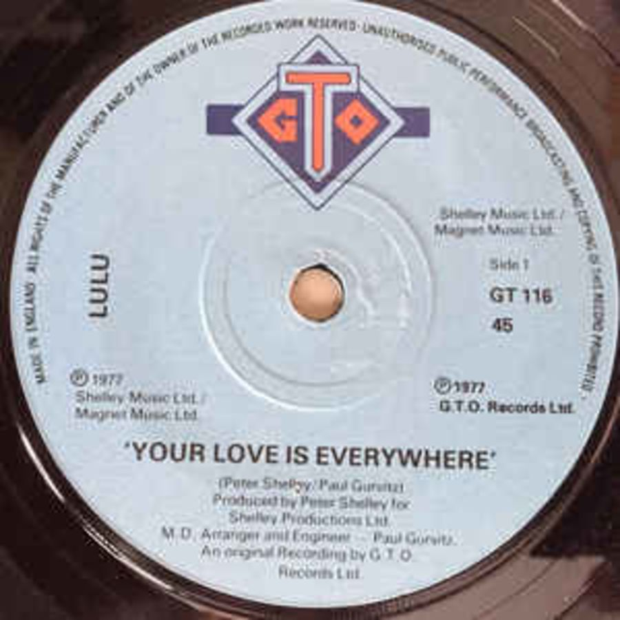 Lulu – Your Love Is Everywhere - Vinyl Record 45 RPM ( MS )