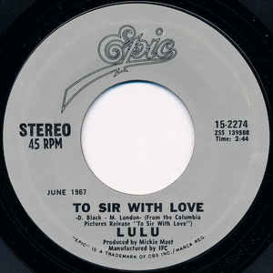 Lulu ‎– To Sir With Love / Morning Dew - Vinyl Record 45 RPM ( MS )