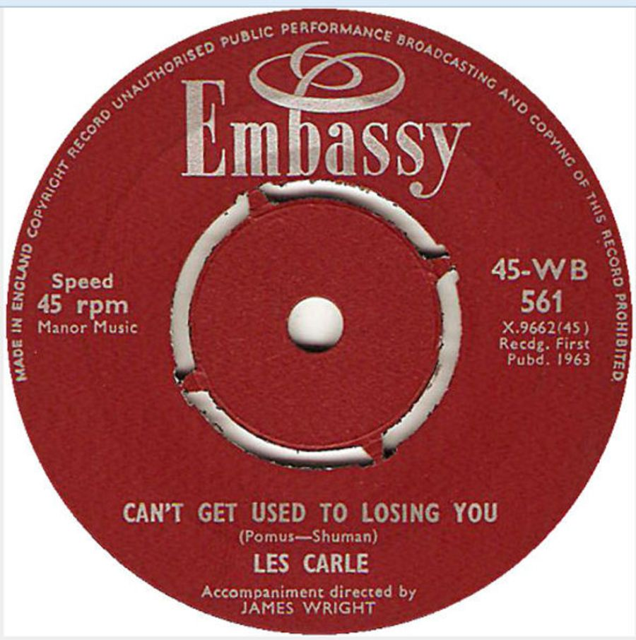Les Carle ‎– Can't Get Used To Losing You / Nobody's Darling But Mine ( MS )