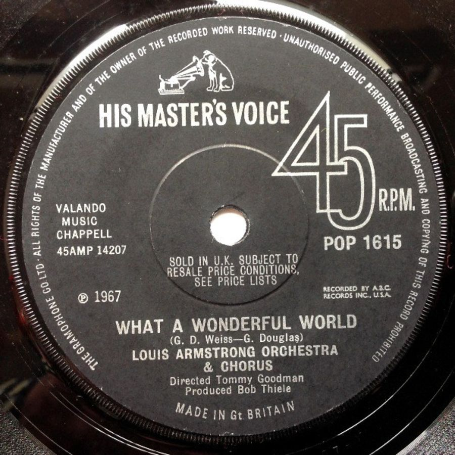 Louis Armstrong Orchestra & Chorus / Louis Armstrong & His All Stars* – What A Wonderful World / Cabaret ( MS )