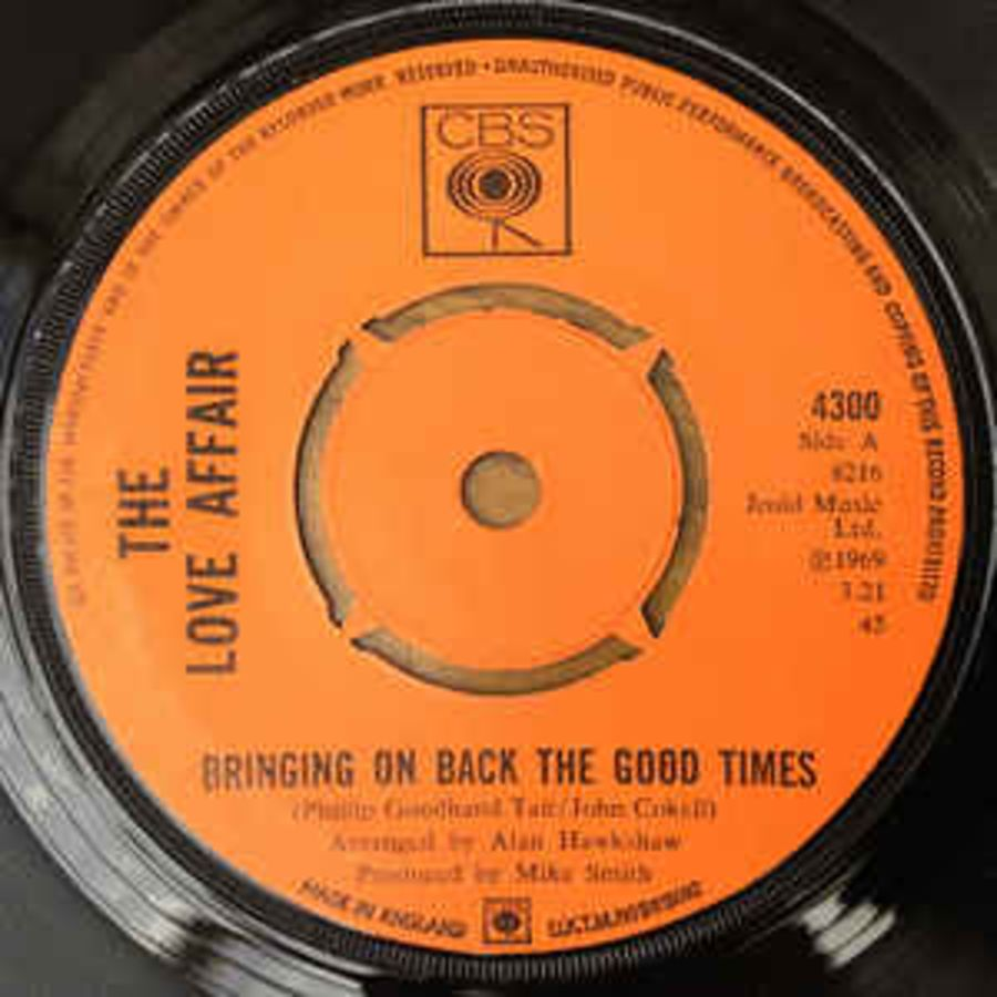 The Love Affair ‎– Bringing On Back The Good Times - Vinyl Record 45 RPM ( MS )