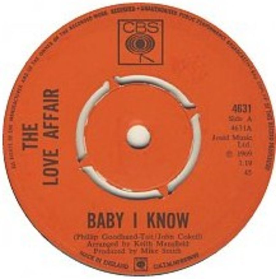 The Love Affair – Baby I Know - Vinyl Record 45 RPM ( MS )