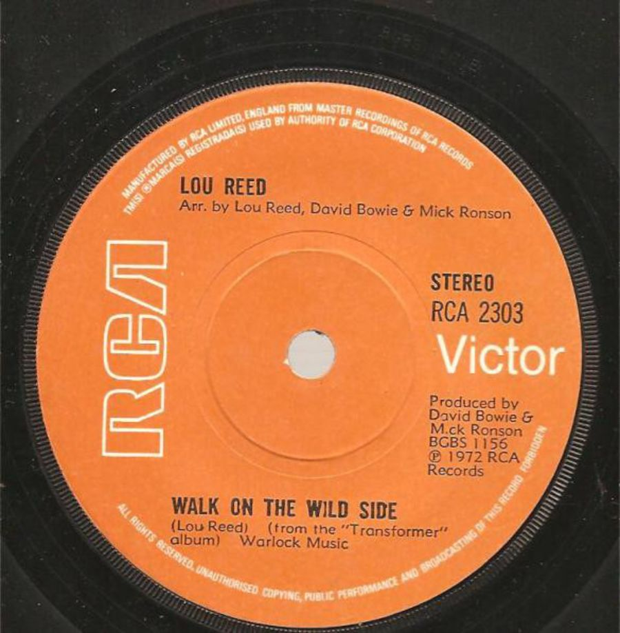 Lou Reed – Walk On The Wild Side - Vinyl Record 45 RPM ( MS )