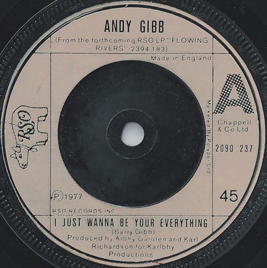Andy Gibb ‎– I Just Wanna Be Your Everything - Vinyl Record 45 RPM ( MS )