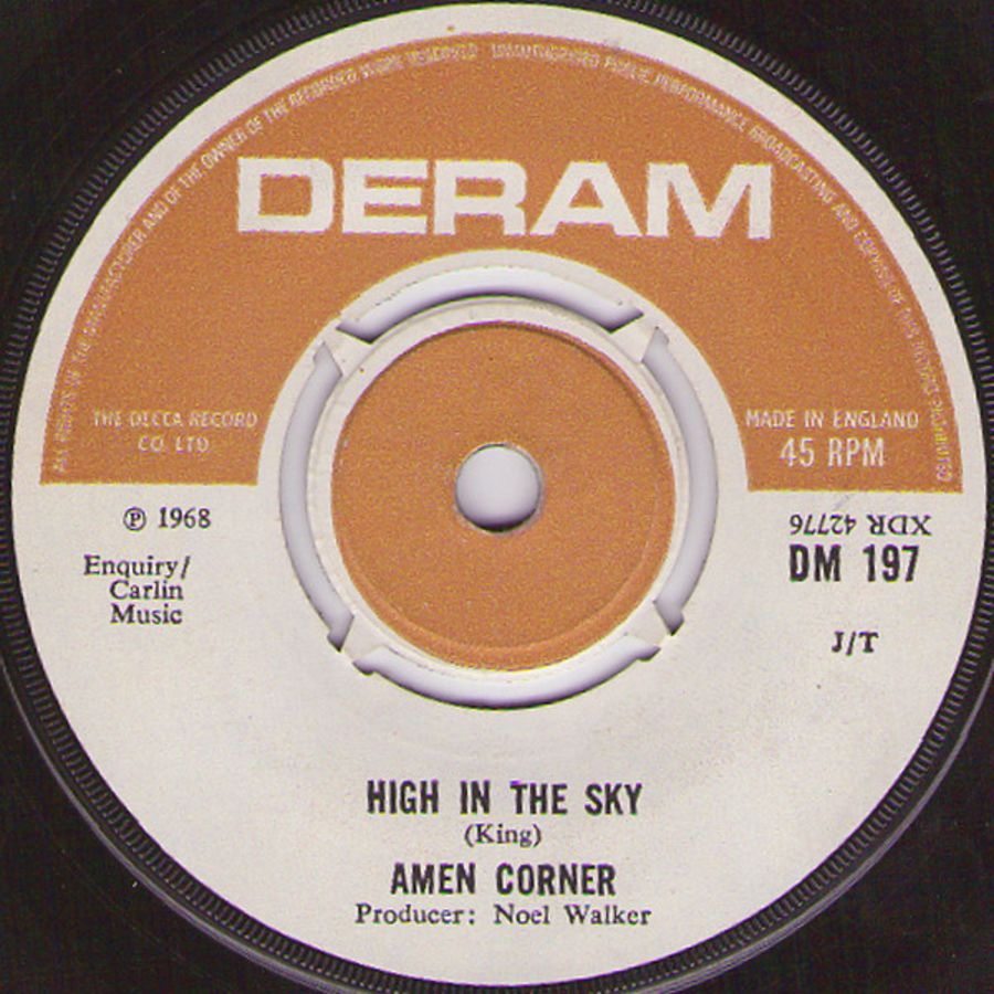 Amen Corner ‎– High In The Sky - Vinyl Record 45 RPM ( MS )