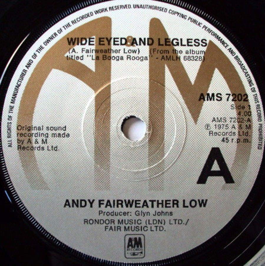 Andy Fairweather-Low ‎– Wide Eyed And Legless - Vinyl Record 45 RPM ( MS )