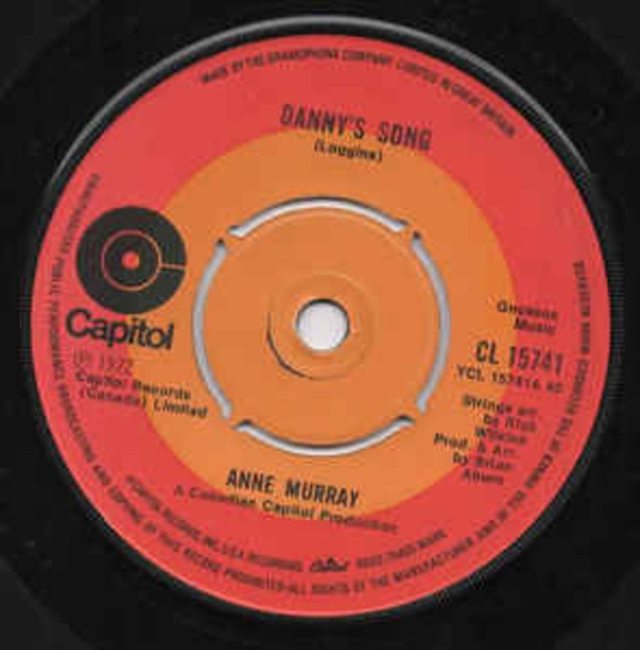 Anne Murray – Danny's Song / Drown Me - Vinyl Record 45 RPM ( MS )