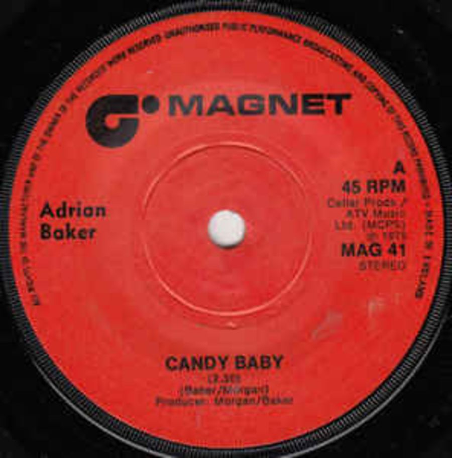 Adrian Baker ‎– Candy Baby - Vinyl Record 45 RPM ( MS )