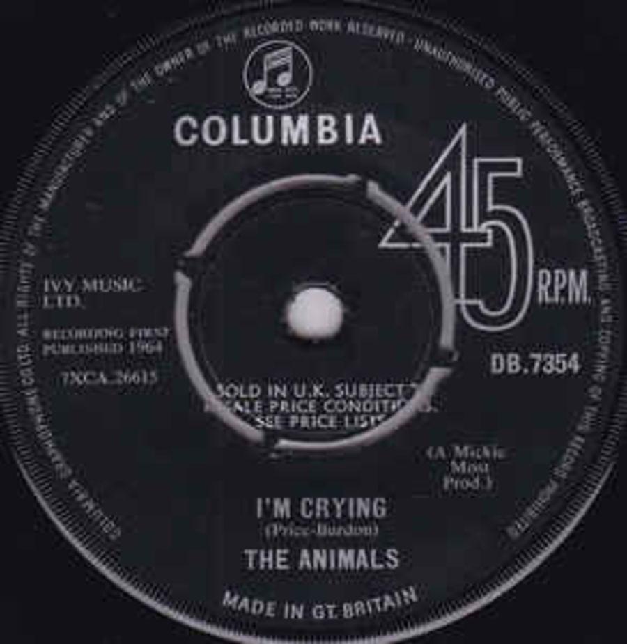 The Animals – I'm Crying - Vinyl Record 45 RPM ( MS )