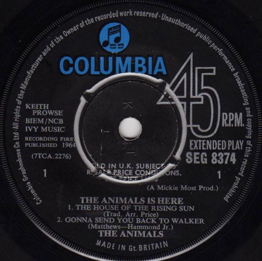 The Animals – The Animals Is Here - Vinyl Record 45 RPM ( MS )