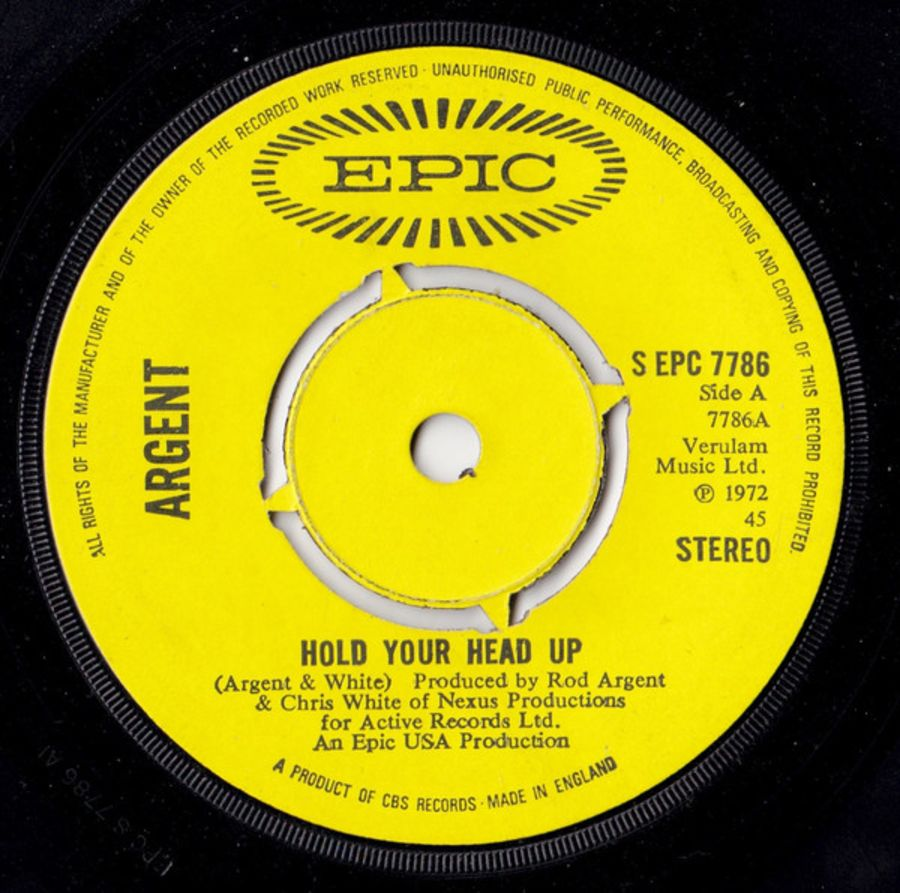 Argent – Hold Your Head Up - Vinyl Record 45 RPM ( MS )