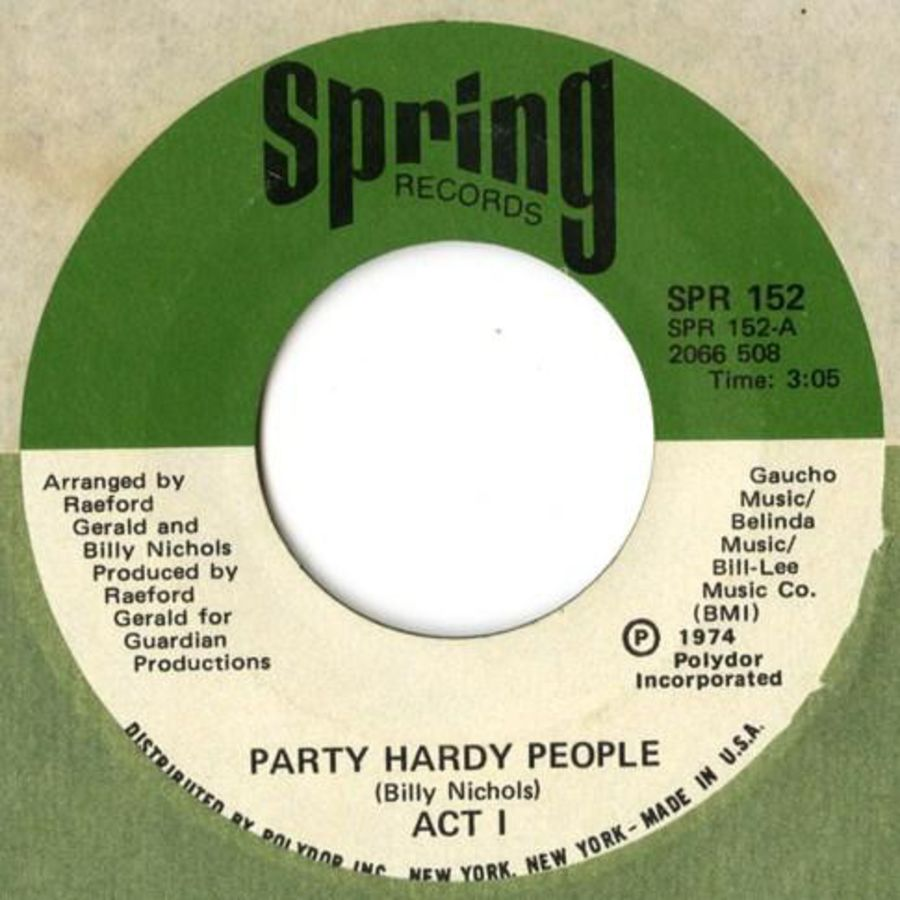 Act 1 ‎– Party Hardy People - Vinyl Record 45 RPM ( MS )