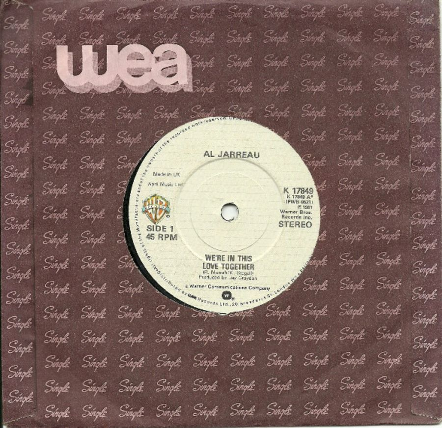 Al Jarreau – We're In This Love Together - Vinyl Record 45 RPM ( MS )