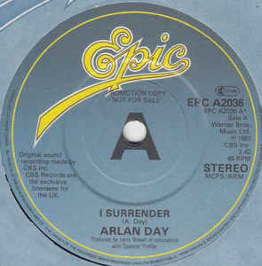 Arlan Day – I Surrender / The Only Woman ( PROMO ) ( MS )