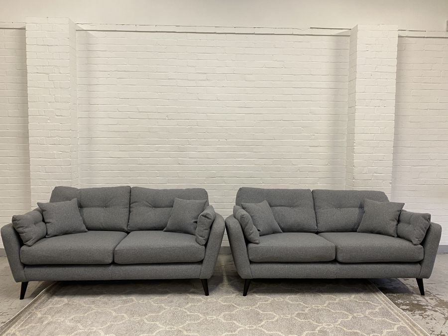 Seville  Fabric 2.5+2.5 Seater Sofas (ex dispaly)
