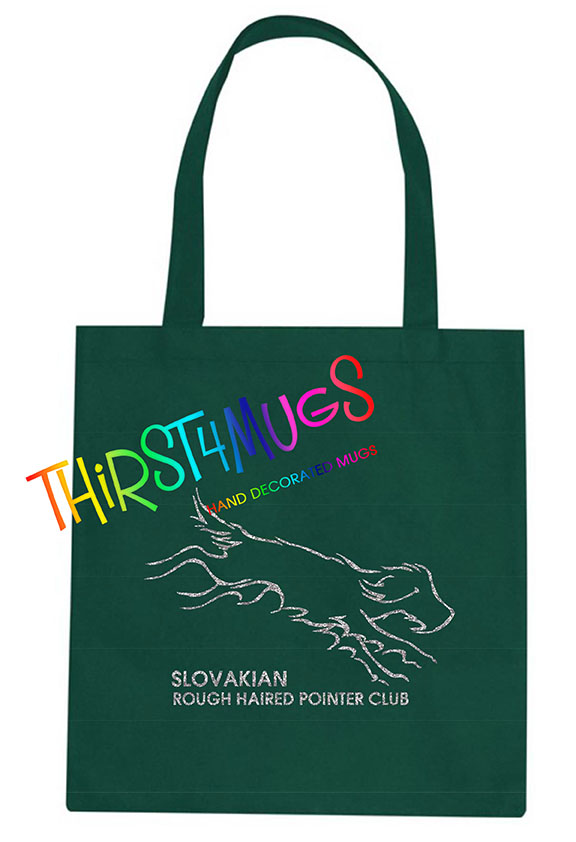 Slovakian Rough Haired Pointer Club Logo Tote Bag