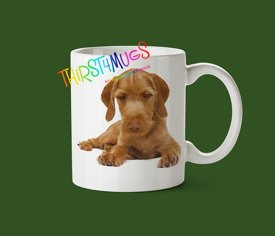 Wirehaired Vizsla Puppy Mug
