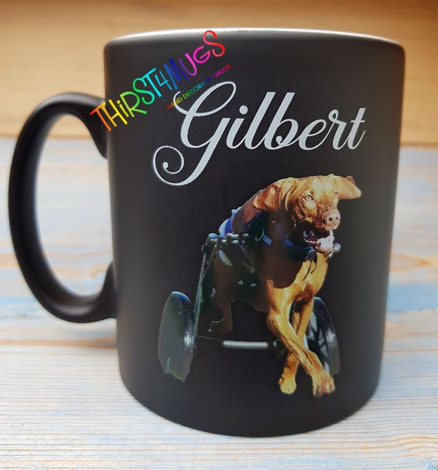 Gilbert On a Black Mug