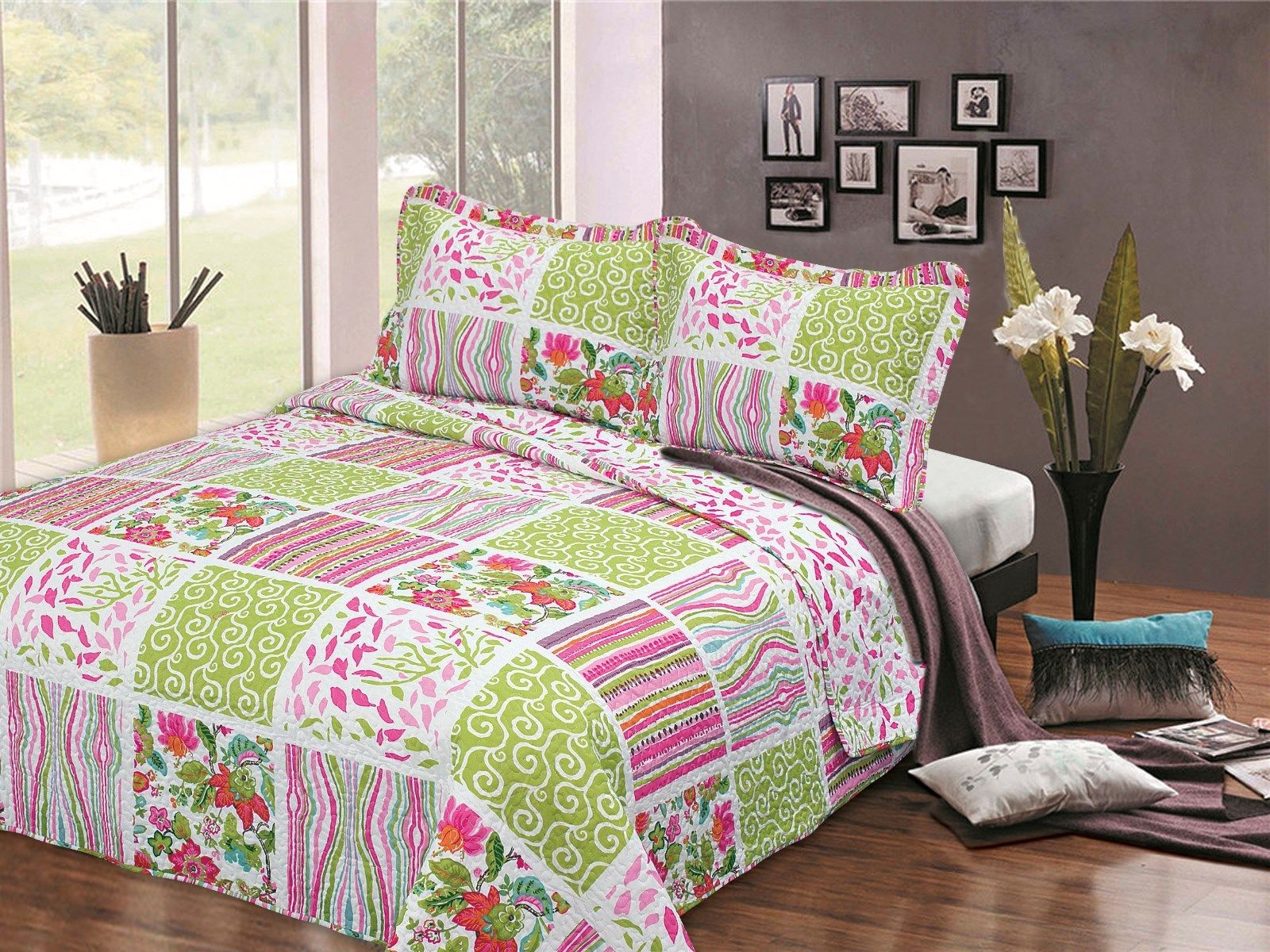 King Green Art Bedspread