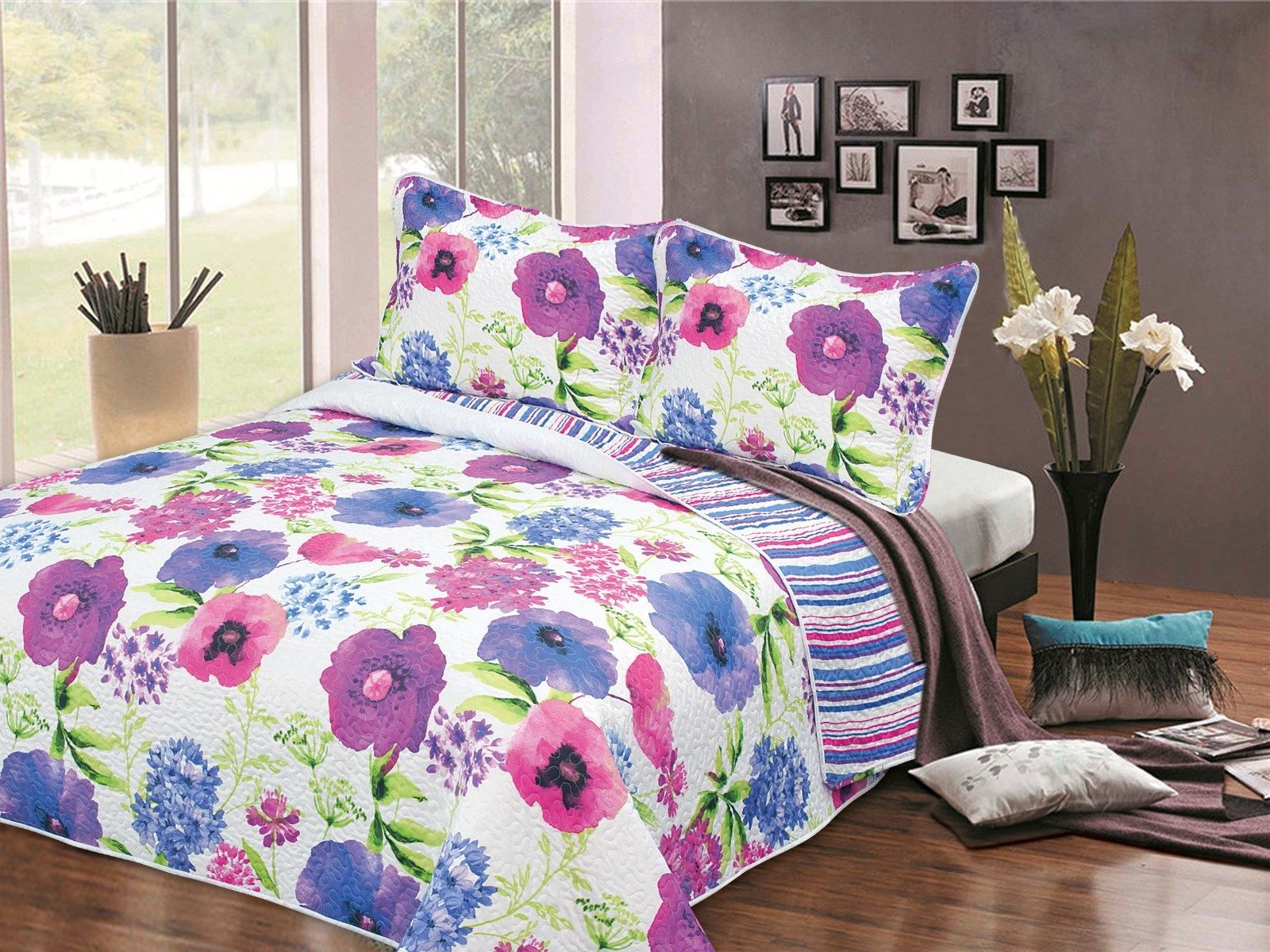 King Watercolour Bedspread
