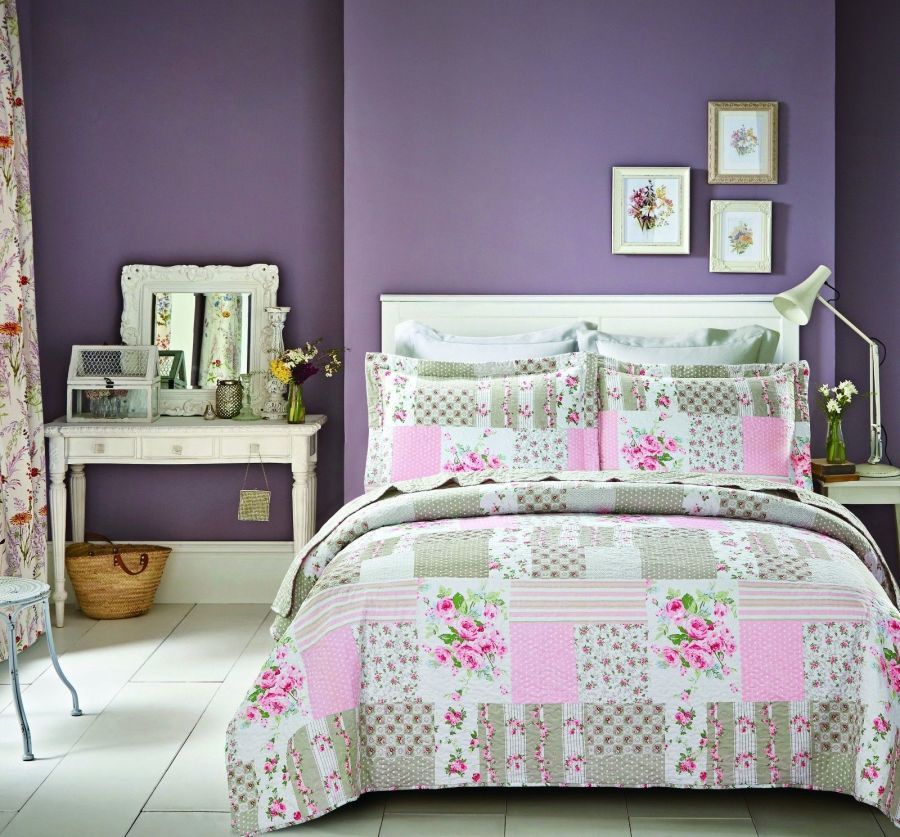 New Pink Patch Bedspread