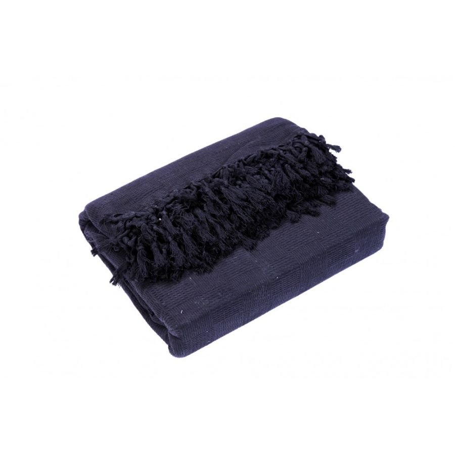 Ascot Cotton Sofa and Bed Throw - King Size (EXTRA JUMBO LARGE) Navy