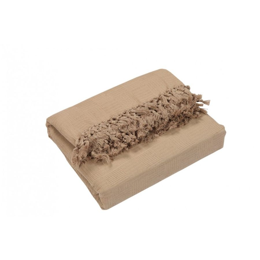Ascot Cotton Sofa and Bed Throw - Super King (GIANT EXTRA JUMBO) Beige