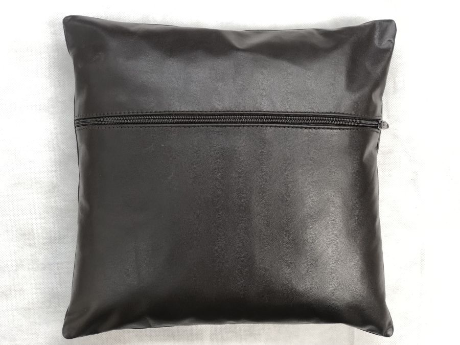 Real Leather Cushion Pad Brown 12 inch x 12 inch