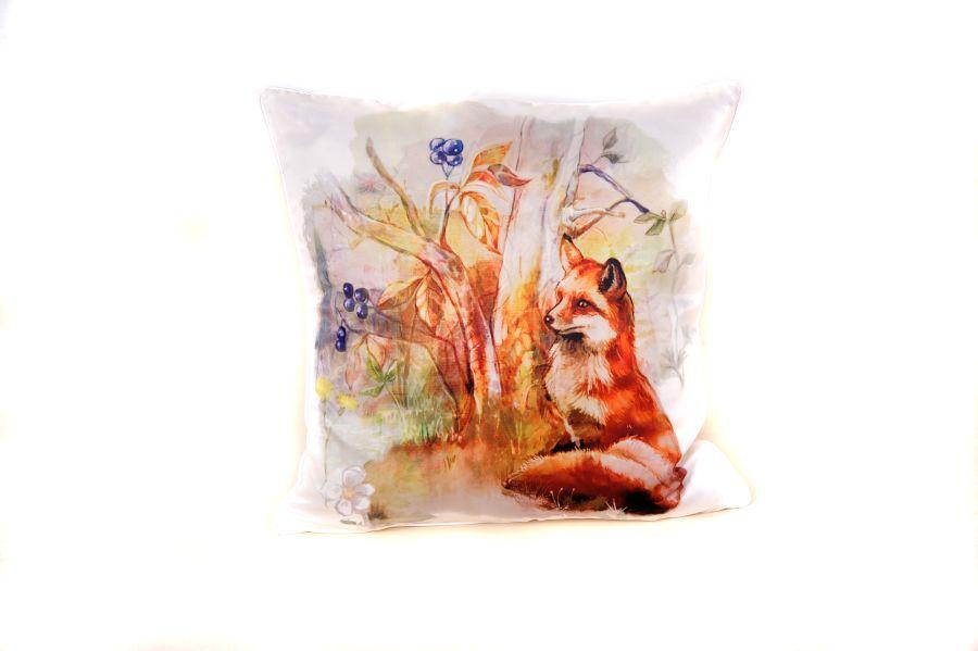 18 x 18 Inch Fox Cushion Cover