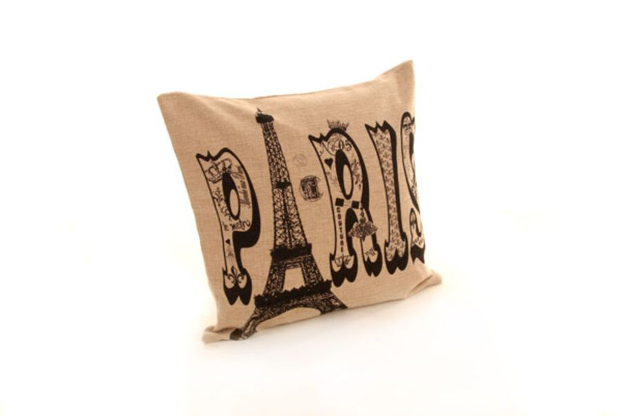 18 x 18 Inch Paris Cushion Cover