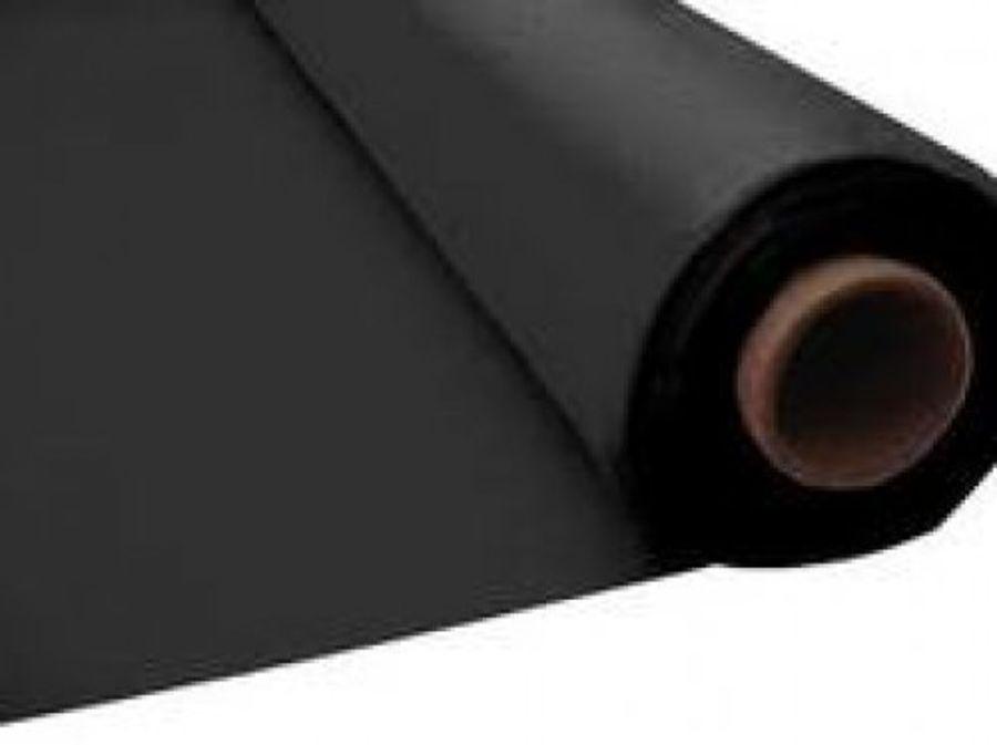 Black Cambric Cotton Fabric - 90 Inch