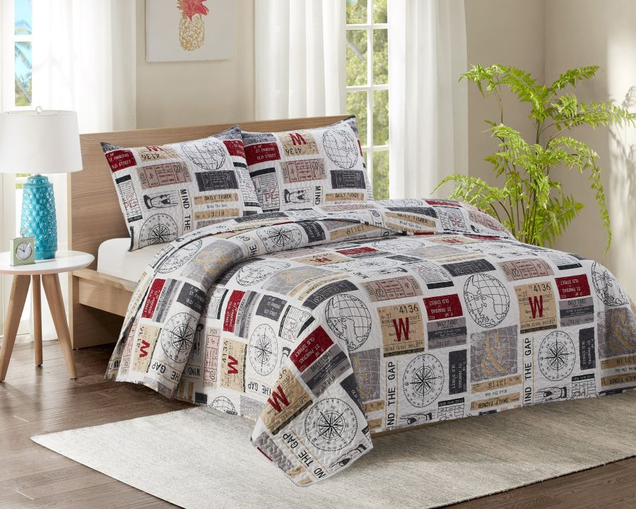 King Bed Quilted Bedspread YJ22 Mind The Gap