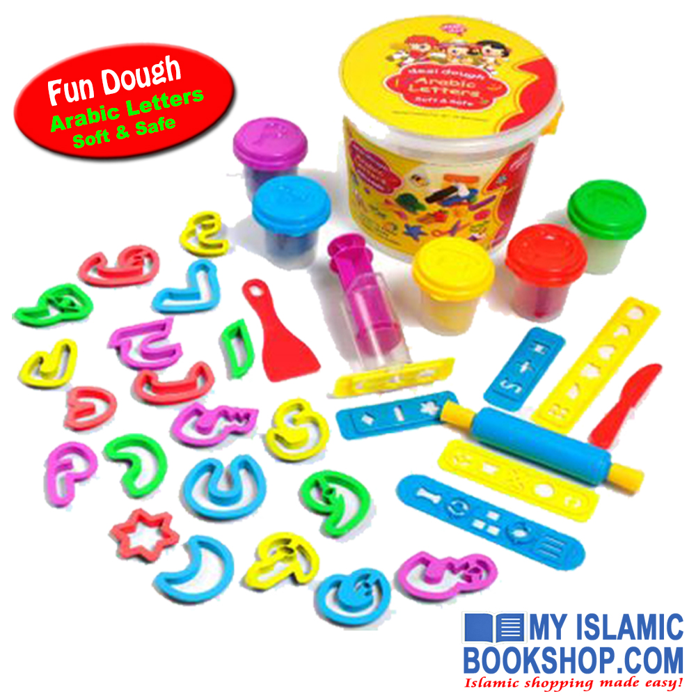 Fun Dough Arabic letters by Desi Doll
