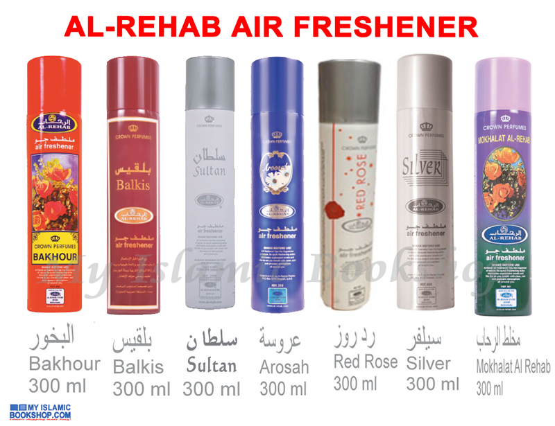 AL-REHAB AIR FRESHENER BAKHOUR / BALKIS / SULTAN / AROSAH / RED ROSE 300 ml
