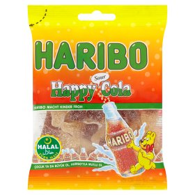 Halal Haribo Happy Cola Sours Sweets 100gm