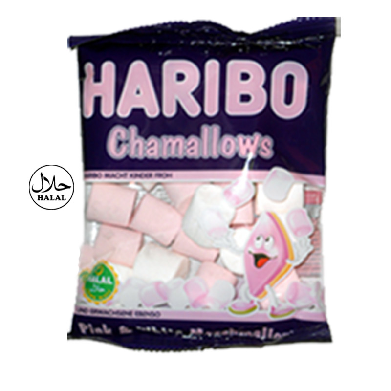 Halal Haribo Chamallows Pink & White Marshmallows Sweets 70g