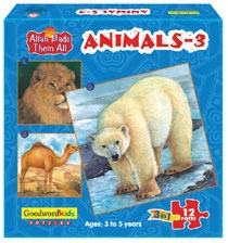 Animals - 3 (Box of three puzzles)