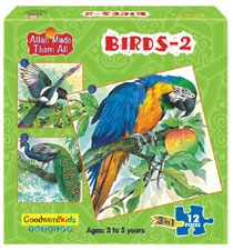 ALLAH MADE THEM ALL PUZZLES BIRDS-2 (BOX OF THREE PUZZLES)