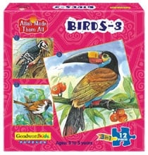 ALLAH MADE THEM ALL PUZZLES BIRDS-3 (BOX OF THREE PUZZLES)