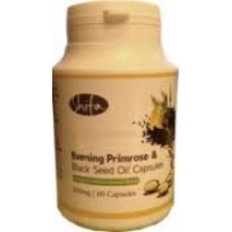 Shifa Evening Primrose & Black Seed Oil Capsules hormone balance