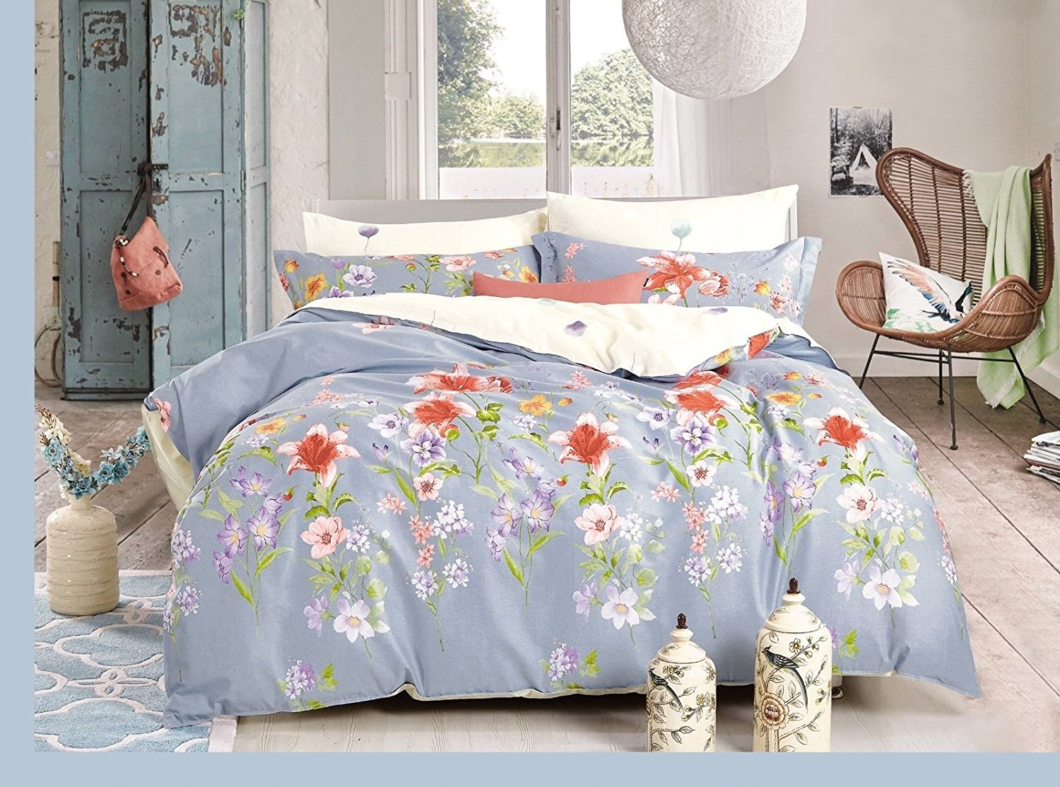 Duck Egg Blue King Duvet Set
